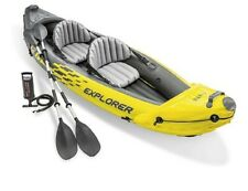🆕️ Intex Explorer 68307 K2 Kayak 2 Person Man Inflatable Canoe Boat Pump Oars