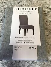 Sure Fit Dining One Piece Chair Slipcover Mason Grey