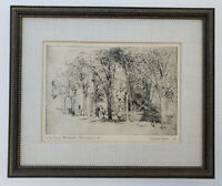WILLARD MYERS (1887-1964) Original Etching PENCIL SIGNED Colonial Williamsburg