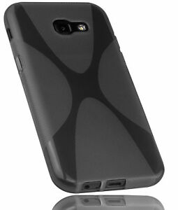 kazoj Samsung Galaxy A5 2017 Hülle X-Design Schutzhülle Tasche in schwarz