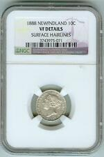 Scarce 1888 Newfoundland 10 cent NGC VF Detail--Only 30,000 Mintage!