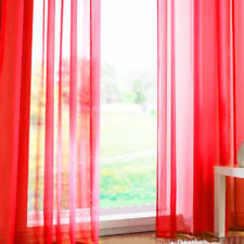 Pair (2 Panels) Of Rainbow Voile Slot Top Panels Top Quality Net Voile Curtains