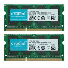 Crucial 16GB KIT 2X 8GB PC3L-12800S DDR3-1600MHZ 204Pin 1.35V SO-DIMM Memory Ram
