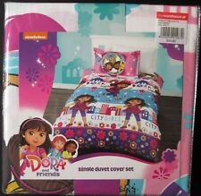 Dora Doona Quilt Cover Duvet Bed Kids Girls Pillow Case Friends Single Bed NEW