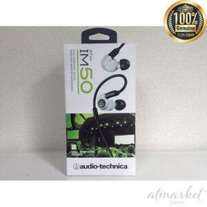 F/S New audio-technica Dual Symphonic Drivers Inner Ear Headphones ATH-IM50 WH