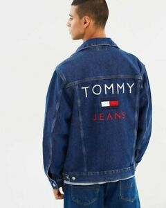 Tommy Jeans Denim Lined Jacket Large 90s Capsule Collection Limited Edition Mens