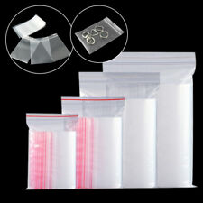 100Pcs Transparent Zip Lock Bags Plastic Bags Self Seal Packaging Bags ca
