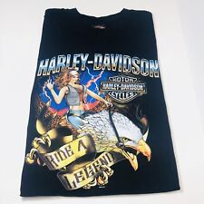 HARLEY DAVIDSON Men's Store T-Shirt Pin Up  Girl Ride The Legend Size XL EUC