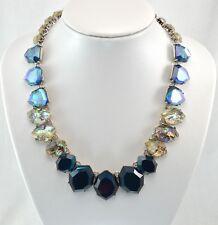 Blue Gem & Shell Choker Necklace 41+9 cm 88g