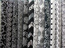 """Assorted Black and White Fabric 40 Piece Jelly Roll 2.5"""" x 44"""" Premium Cotton"""
