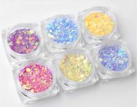 6 Pcs UV Color Change Mica Powder Sunlight Glitter Reactive Resin Jewelry Making