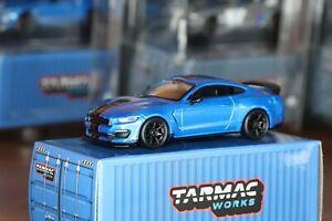 Tarmac Works 1/64 Ford Mustang Shelby GT350R Bleu, No Hot Wheels, No Norev