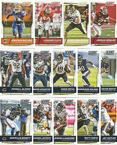2016 CHICAGO BEARS 40 Card Lot w/ SCORE Team Set 20 CURRENT Players NO DUPES