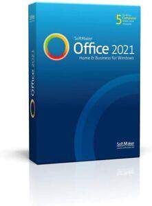 Softmaker Office Home & Business 2021 - PC-DVD - NEU & Verpackt - 5 Benutzer
