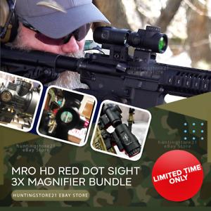 Trij Mro HD Red Dot Sight 3x Bundle AR Tactical Optics Hunting Scopes 1X25 20mm✅