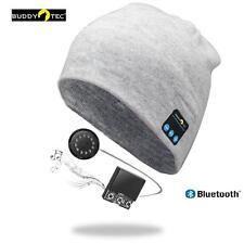 Bluetooth Mütze Unisex grau Beanie Kopfhörer Headset mit Li-Ion Akku Neuheit !