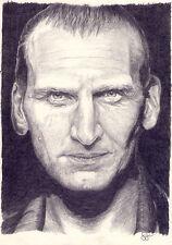 Arte Original. Christopher Eccleston. doctor Who. por Simon campo.