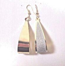 SALE NEW Women TRENDY GOLD Crystal Scrub WATER DROP DANGLE Hook Pierced EARRINGS