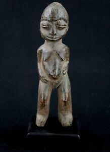 "Art African - Antique Fetish Lobi "" Bateba "" Miniature On Base - 14 CMS"