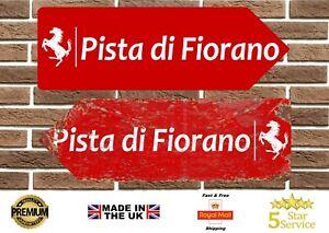 Ferrari Fiorano Circuit Metal Road Sign Vintage Retro Garage Sign Man Cave