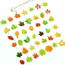 46x Diy Leaf Paper Stickers Flakes Romantic Love For Diary Decor ScrapbookingF&F