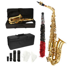 New Beginner Student Paint Gold Alto Eb Sax Saxophone w/ Case Accessories