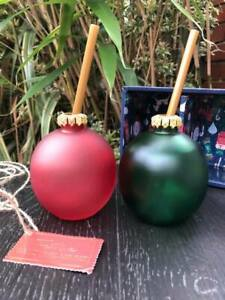 Set Of Festive Christmas Bauble Glasses Xmas Boxed Red Green Glasses Great Gift