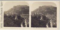 Monaco Vista Verso Il Château Stereo Stereoview Vintage Analogica Ca 1910