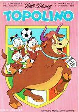 TOPOLINO N.1088 del 3 ottobre 1976 - Come nuovo Cover TORINO calcio