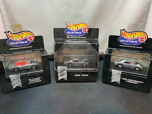 Hot Wheels Black Box King Cuda Chevrolet Camaro & Custom Pontiac Firebird Lot