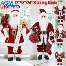 "12""/18""/24"" Traditional Standing Christmas Santa Claus Figure Xmas Decors Gift"