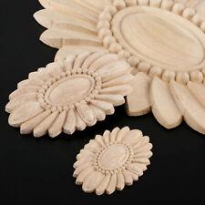 Applique Carved Decal Corner Oval European Wood Flower Craft Wedding Home Decor