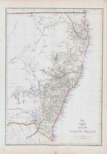 More details for 1863 large antique map new south wales australia by edward weller (da219)