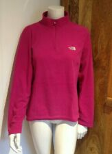 WOMENS THE NORTH FACE FLEECE TOP SIZE L/G   CERISE PINK