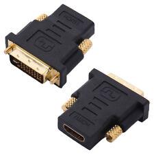 Adaptador DVI a HDMI DVI-I Macho a HDMI Hembra Adaptador Convertidor de Cable de vídeo