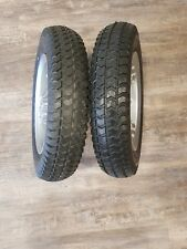 """14"""" 3.00-8 New Drive tires, Used Rims Permobil wheelchair Air free, solid Black"""
