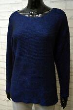 TOMMY HILFIGER Maglione Lana Donna Taglia L Cardigan Maglia Pullover Blu Sweater