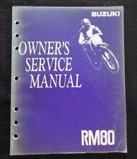 GENUINE 1991 1992 SUZUKI 80 RM80 MOTORCYCLE OWNER'S SERVICE MANUAL GOOD SHAPE
