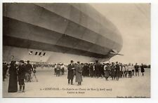 AVIATION Aérostation LE ZEPPELIN au champ de mars en 1913 à LUNEVILLE CPA 54