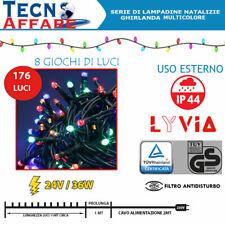Luci Natalizie da Esterno Lyvia Luci Pazze 176 Lampadine 36W 11 MT Multicolore