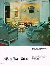 PUBLICITE ADVERTISING 094  1966  SIEGES JEAN ROCHE   salon LOUIS XVI à colonnes