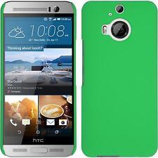 Funda Rígida HTC One M9 Plus - goma verde + protector de pantalla