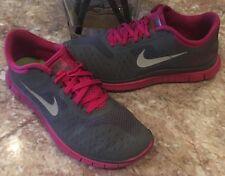 Nike Free Run 4.0 V2 Women's Gray/Pink Running Shoes Size 9 - 511527-006