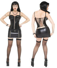 Ultra Sexy Leather Look Latex mini dress bustier - RUNOUT SPECIAL (7076)