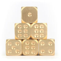 METAL BRASS DICE TOY CLUB BAR HOLIDAY PARTY ENTERTAINMENT GAME ACCESSORIES FUN