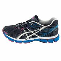 Asics Womens GT 2000 T2K7N Black Running Shoes Lace Up Low Top Size 6.5