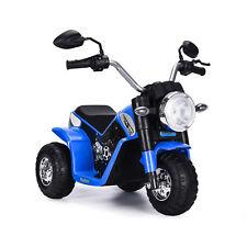 Bakaji Moto Baby Blu LT889 Bianco Tre Ruote Volante Alto Harley 1 x 6V 4,5 Ah