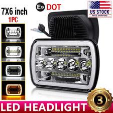 """For 1986-1995 Jeep Wrangler YJ 1984-2001 Cherokee XJ 5X7"""" 7x6"""" LED Headlight"""