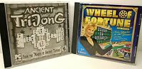 Lot of 2 PC-Rom games; Ancient Tri-Jong & Wheel of Fortune