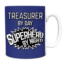 Royal Blue Treasurer by Day Superhero by Night 10oz Mug 217